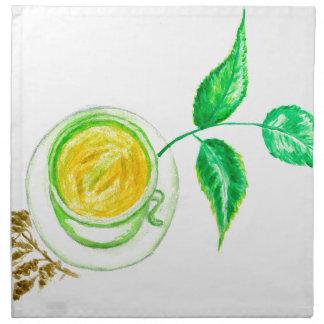 Green Tea Art Napkin