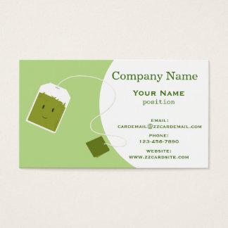 Green Tea Bag Business Card