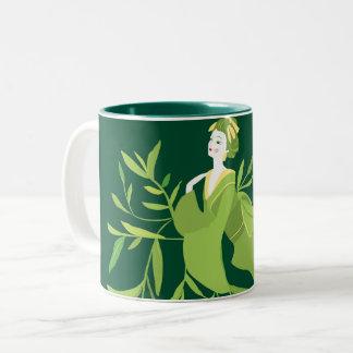 Green Tea Geisha Mug