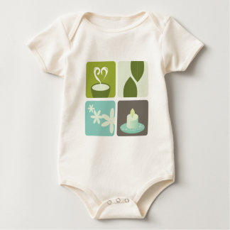 GREEN TEA NATURAL LEAVES LUXURY ART EDITION BABY BODYSUIT