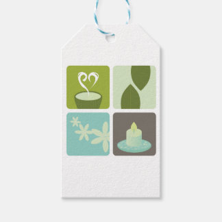 GREEN TEA NATURAL LEAVES LUXURY ART EDITION GIFT TAGS
