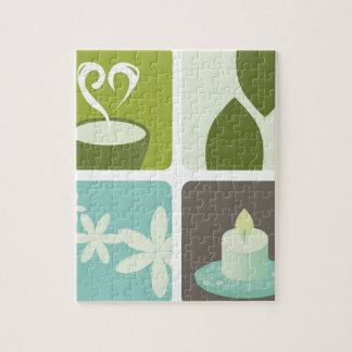 GREEN TEA NATURAL LEAVES LUXURY ART EDITION JIGSAW PUZZLE
