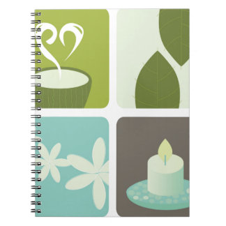 GREEN TEA NATURAL LEAVES LUXURY ART EDITION NOTEBOOK