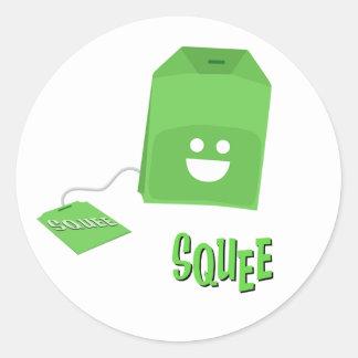 Green Tea Squee-Bag Sticker