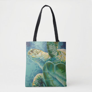 Green Tea Turtle Tote