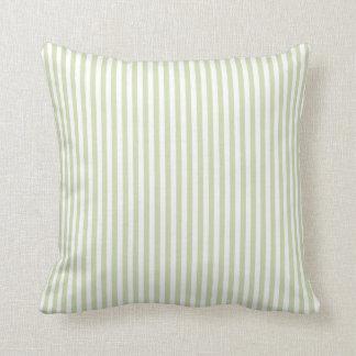 Green Tea & White Stripes Pillow
