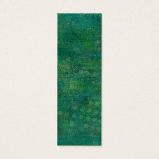 Green & Teal Background Mini Bookmarks Mini Business Card