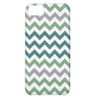 Green & Teals Chevron Pattern iPhone 5 Cover For iPhone 5C