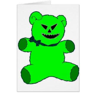 Green Teddy Card
