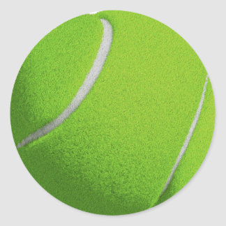 Green Tennis Classic Round Sticker