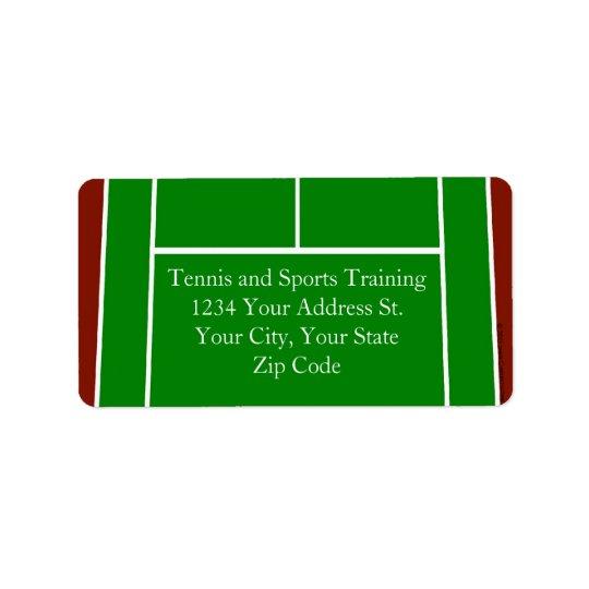 Green Tennis Court Design Label