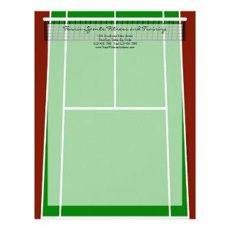 Green Tennis Court Design Letterhead