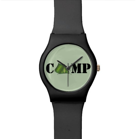 Green Tent Summer Camp Camping Outdoors Watch