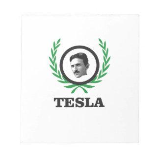 green Tesla circle Notepad