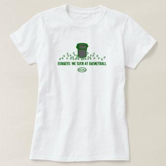Green text: Runners - We suck at basketball T-Shirt