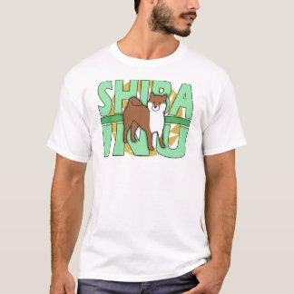 Green Text Shiba Inu T-Shirt