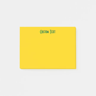 Green Text | Yellow Post-it Notes