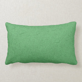 Green textured raindrop pillow