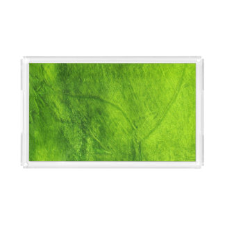 Green Textured Serving Tray