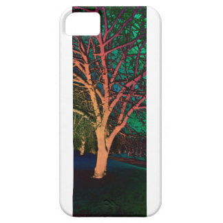 Green Textured Winter Tree iPhone 5 Cover