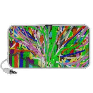 GREEN Theme:  Artistic Tree Show Travel Speakers
