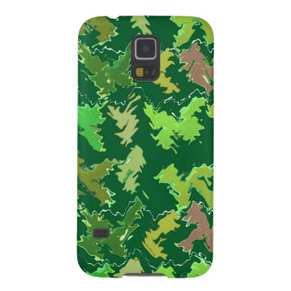 Green Theme : Military Camouflage Wave Pattern Cases For Galaxy S5