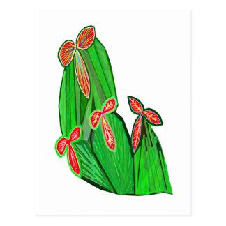 Green Theme Water Colors - CACTUS Cacti Postcard