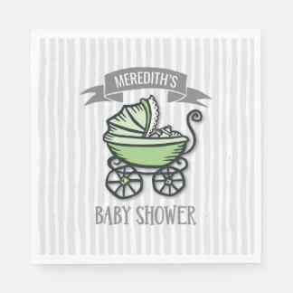 Green-Themed Baby Shower Disposable Napkins