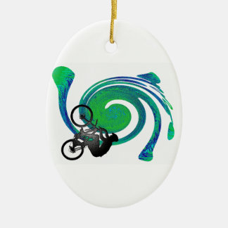 GREEN THIS WAY CERAMIC ORNAMENT