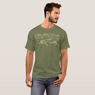 "Green ""Thorns"" Stamped Shirt"