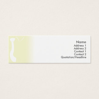 Green Tie - Skinny Mini Business Card