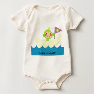 Green Tiki Monkey! Baby Bodysuit