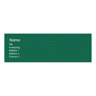 Green Tile - Skinny Business Card Templates