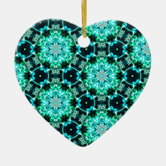 Green Tilly Lace Ceramic Heart Ornament