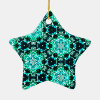 Green Tilly Lace Ceramic Star Ornament