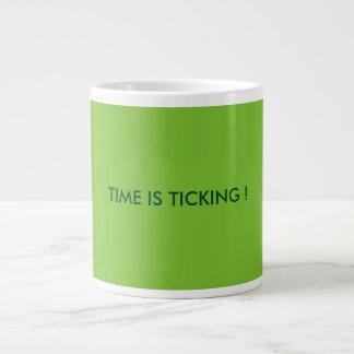 GREEN TIME IS TICKING JUMBO MUG