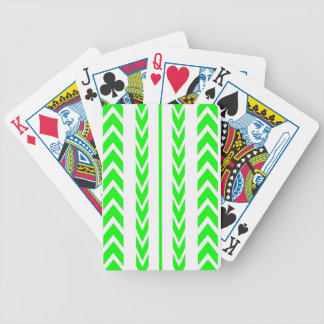 Green Tire Tread Bicycle Playing Cards