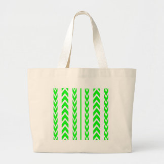 Green Tire Tread Large Tote Bag