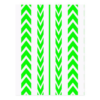 Green Tire Tread Postcard
