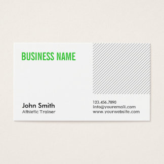 Green Title Athletic Trainer Business Card
