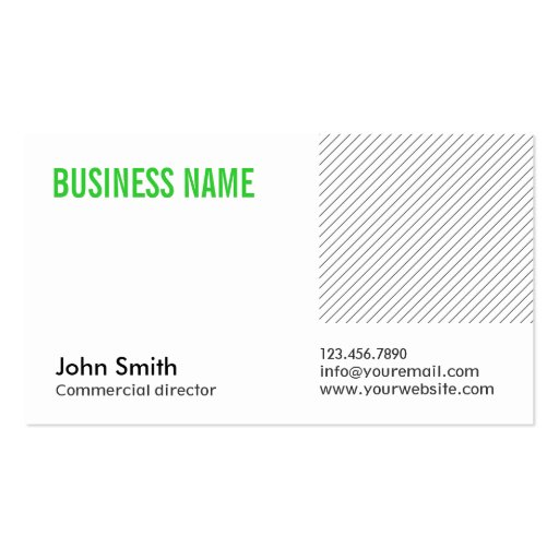 Green Title Commercial Director Business Card