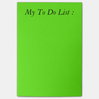 Green To Do List Post-it Post-it Notes