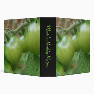 Green Tomatoes Custom Recipe Binder