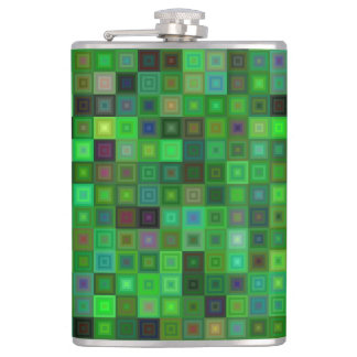 Green tone squares flask