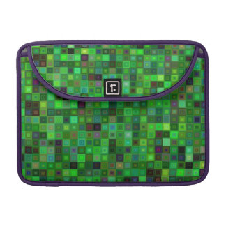 Green tone squares sleeves for MacBook pro