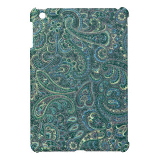 Green Tones Vintage Ornate Paisley Pattern Cover For The iPad Mini