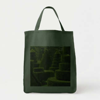 Green Topiary - Grocery Tote Tote Bags