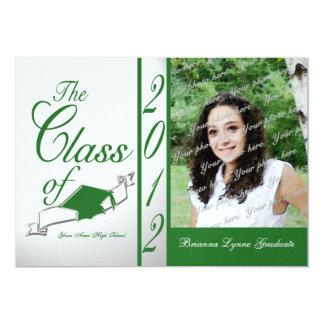 Green Touch of Class Graduation 2012 Announcement