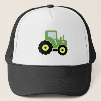 Green toy tractor trucker hat