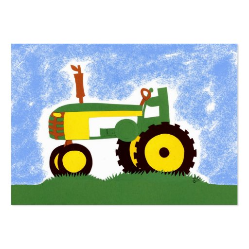 Green Tractor Gift Tags Profile Card Business Card